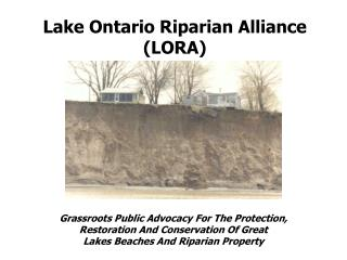 Lake Ontario Riparian Alliance (LORA)