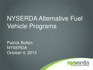 NYSERDA Alternative Fuel Vehicle Programs