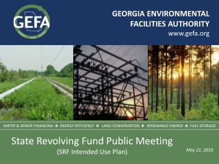 GEORGIA ENVIRONMENTAL FACILITIES AUTHORITY www.gefa.org