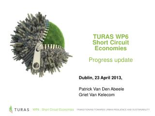 Dublin, 23 April 2013, Patrick Van Den Abeele Griet Van Kelecom
