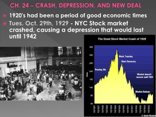 CH. 24 – CRASH, DEPRESSION, AND NEW DEAL