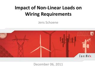 Impact of Non-Linear Loads on Wiring Requirements
