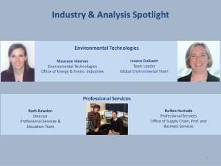Industry & Analysis Spotlight