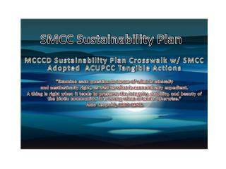 SMCC Sustainability Plan