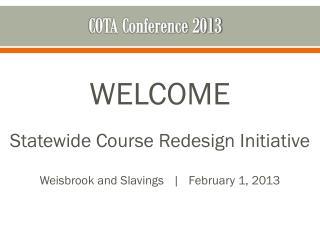 COTA Conference 2013