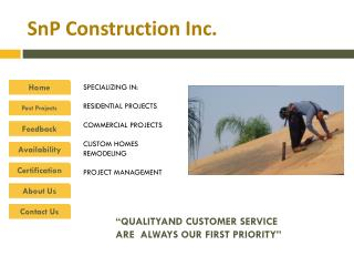 SnP  Construction Inc.