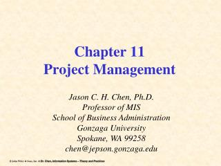 Chapter 11 Project Management