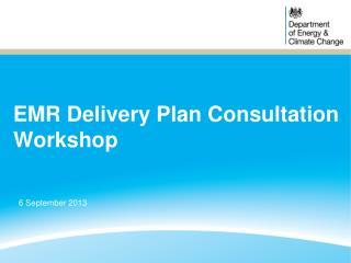 EMR Delivery Plan Consultation Workshop