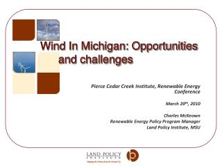 Wind In Michigan: Opportunities and challenges