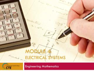 Module 4:  Electrical Systems