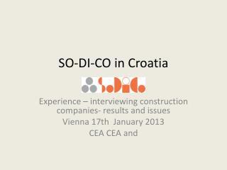 SO-DI-CO  in  Croatia