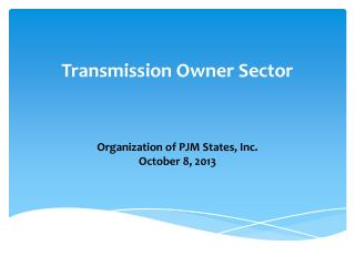 Transmission Owner Sector