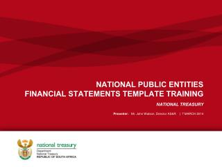 NATIONAL PUBLIC ENTITIES FINANCIAL STATEMENTS TEMPLATE TRAINING