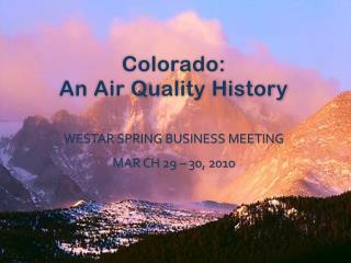 Colorado: An Air Quality History