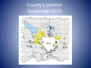 County's position September 2013