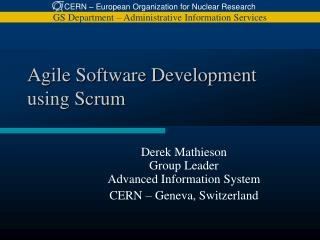 Agile Software Development using Scrum