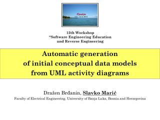 Automatic generation  of initial conceptual data models  from UML activity diagrams
