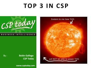 TOP 3 IN CSP