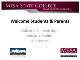 Welcome Students & Parents