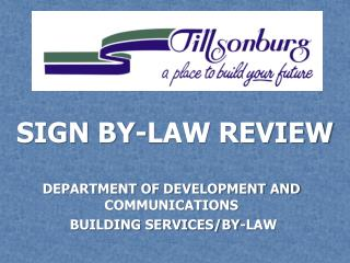 SIGN BY-LAW REVIEW