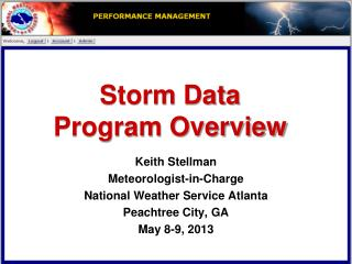Storm Data  Program Overview