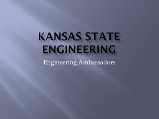 Kansas State Engineering