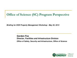 Office of Science (SC) Program Perspective