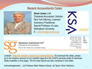 Recent Accountants Cases