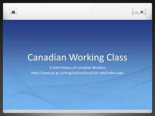 Canadian Working  Class