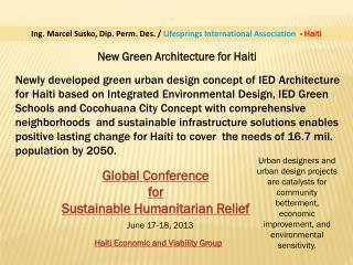 New Green Architecture for Haiti