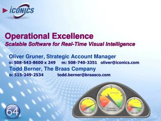 Operational Excellence  Scalable Software for Real-Time Visual Intelligence
