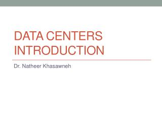 Data Centers Introduction