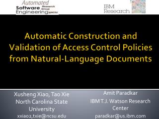 Automatic Construction and Validation of Access Control Policies from Natural-Language Documents