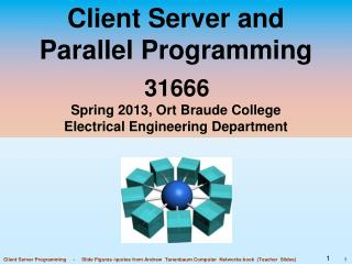 Client Server and Parallel Programming 31666 Spring 2013, Ort Braude College Electrical Engineering Department