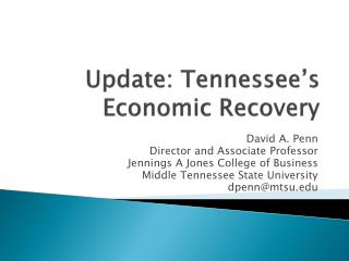Update: Tennessee's Economic Recovery