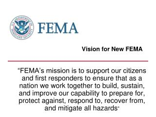 Vision for New FEMA