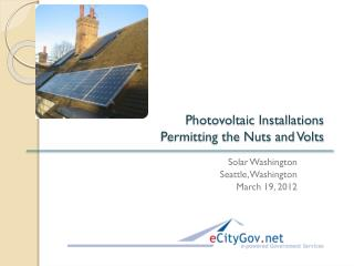 Photovoltaic Installations  Permitting the Nuts and Volts