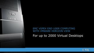 EMC VSPEX END USER COMPUTING WITH  VMWARE HORIZON VIEW