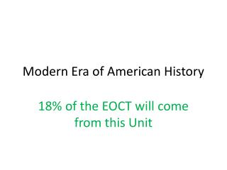 Modern Era of American History