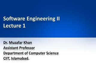 Software Engineering II Lecture 1