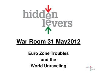 War Room 31 May2012 Euro Zone Troubles  and the  World Unraveling