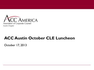 ACC Austin  October CLE Luncheon