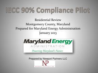 IECC 90% Compliance Pilot
