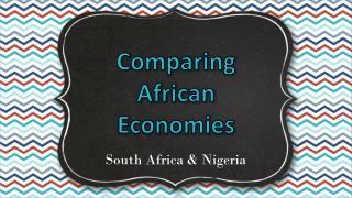 Comparing African Economies