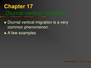chapter 17  diurnal vertical migration