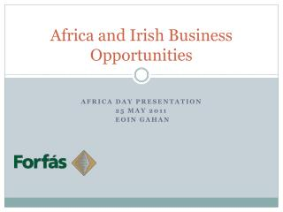 Africa and Irish Business Opportunities