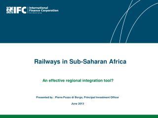 Railways in Sub-Saharan Africa