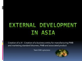 External Development in Asia