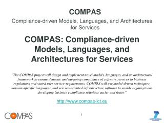COMPAS: Compliance-driven Models, Languages, and Architectures for Services