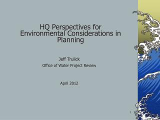 HQ  Perspectives for Environmental Considerations in Planning
